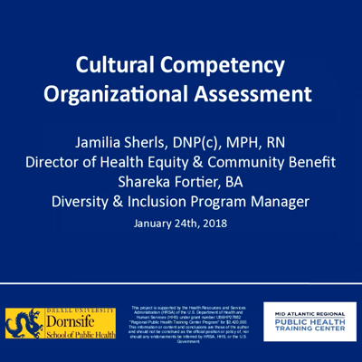 Cultural competency organizational assessment