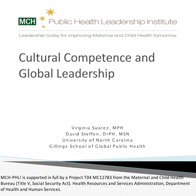 Cultural competence & global leadership
